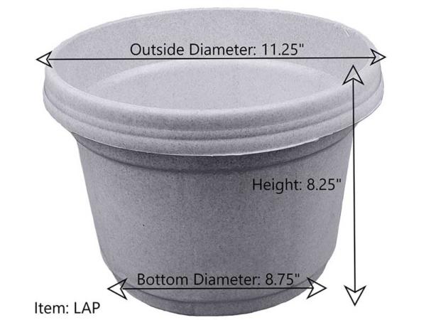 "LAP (11.25"") Dimensions"